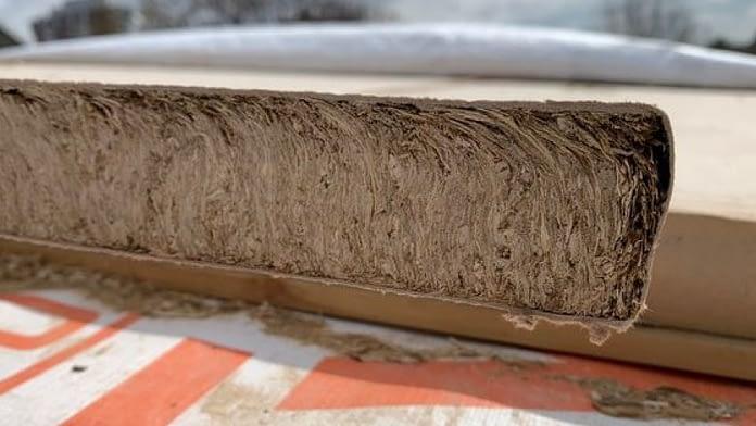 Paneles de rastrojo de trigo